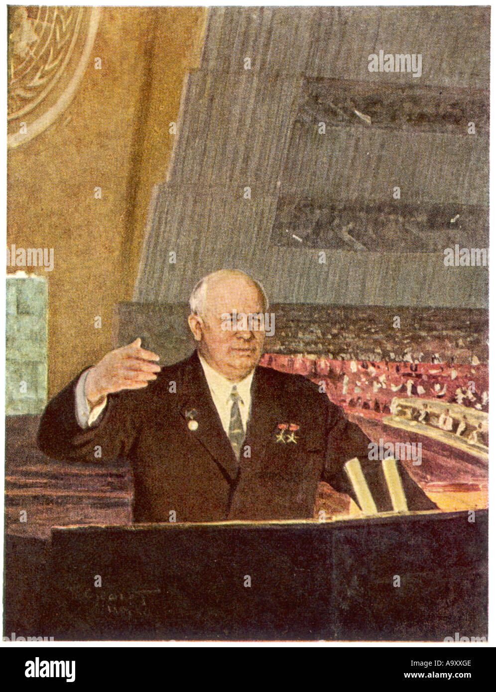 Khrushchev Speaking At The Un - Stock Image