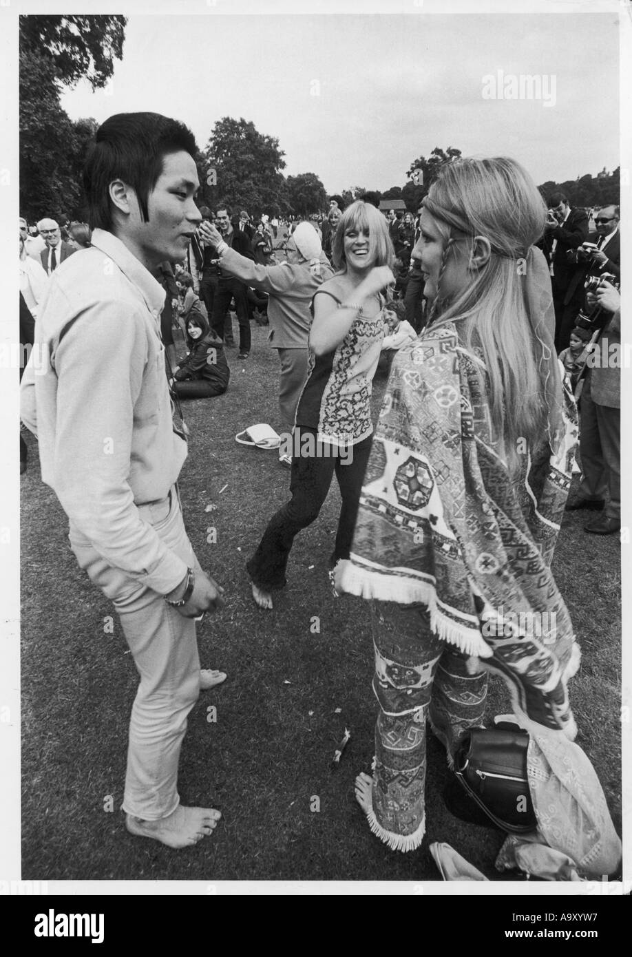 Hippies London Festival - Stock Image