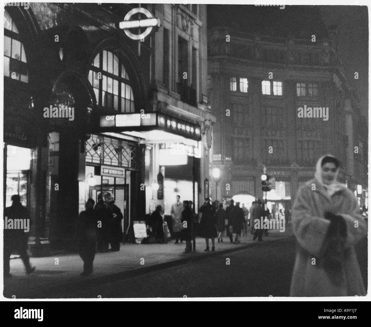 Oxford Circus Tube 1950s - Stock Image