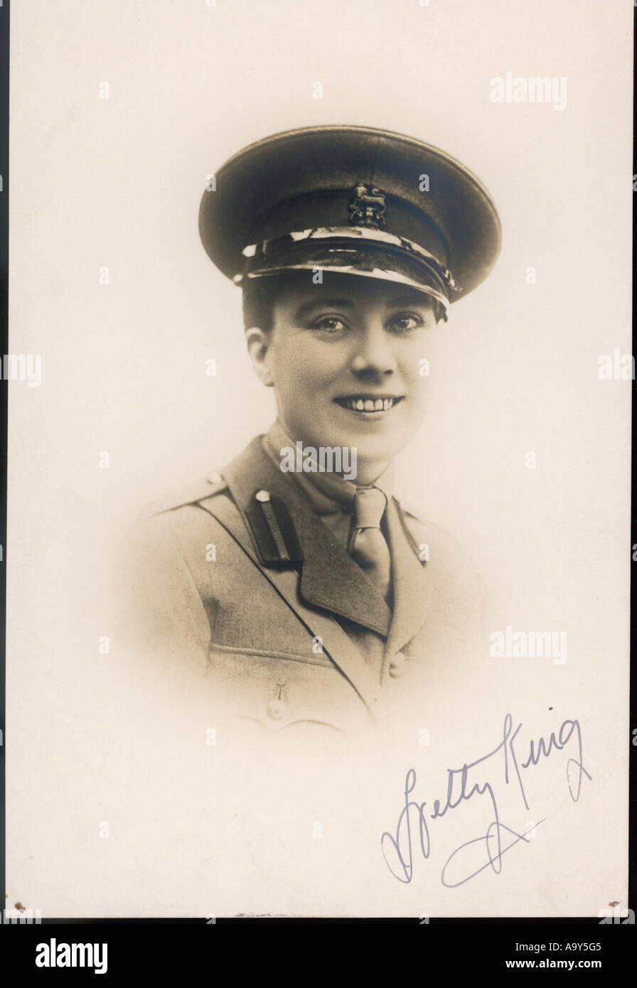 Hetty King Signed - Stock Image