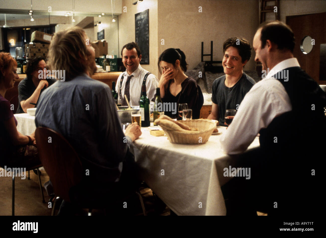 NOTTING HILL - 1999 Polygram film with Hugh Grant second from right Stock Photo