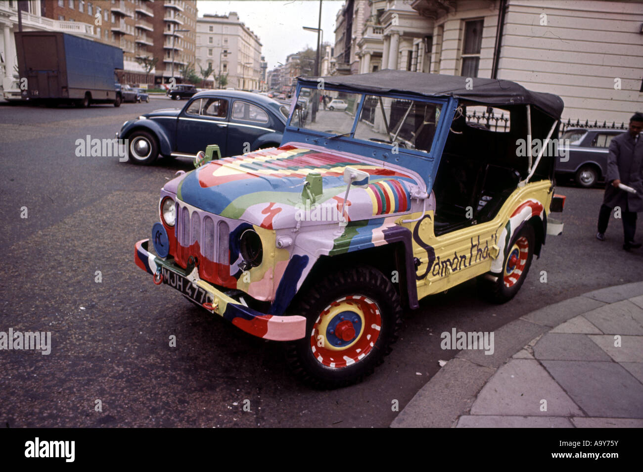 KINGS ROAD area in Chelsea, London in 1965 - Stock Image