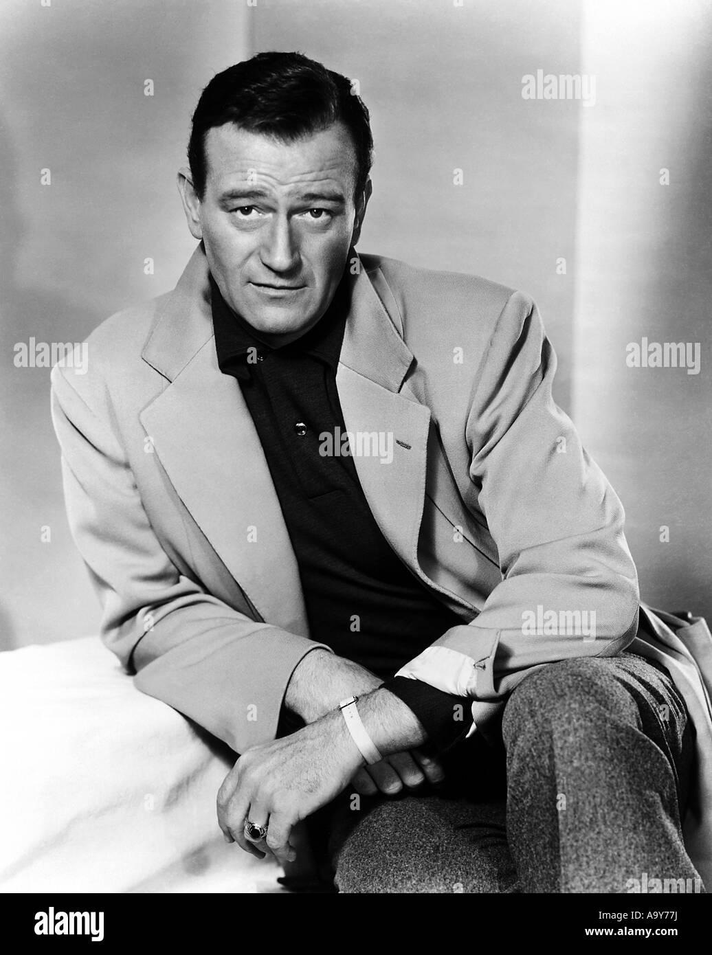 JOHN WAYNE - US film actor - Stock Image
