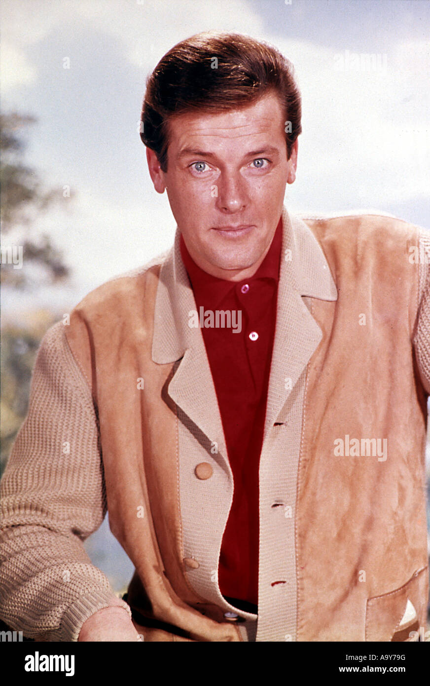 ROGER MOORE - UK actor in 1962 - Stock Image