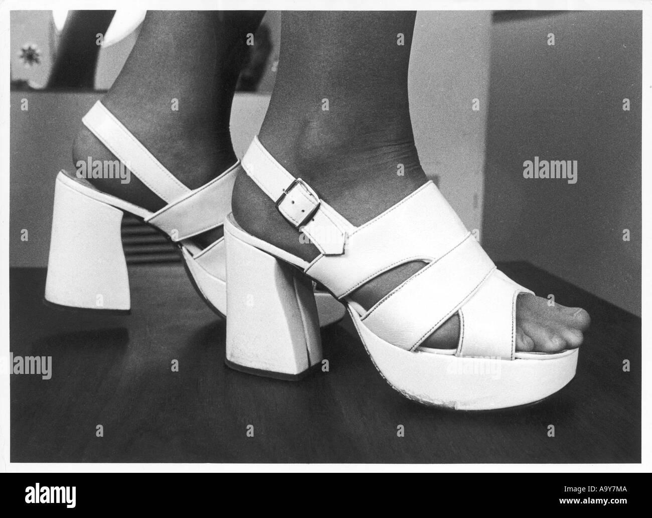 05d2bdb7f746 Platform Shoes 1970s Stock Photos   Platform Shoes 1970s Stock ...