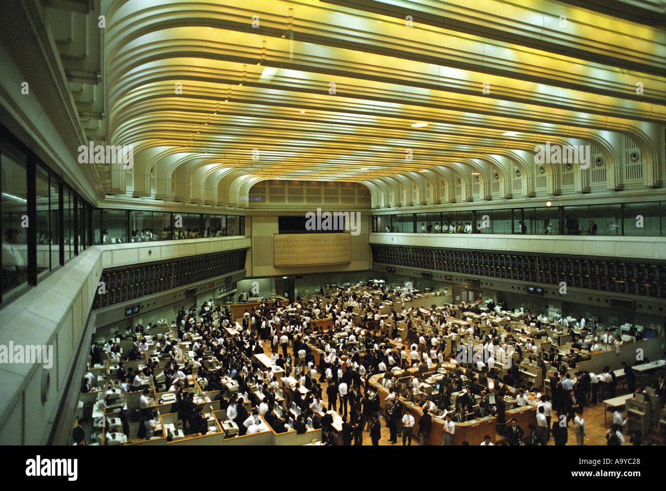 Tokyo Stock Exchange Trading Floor In Japan Stock Photo
