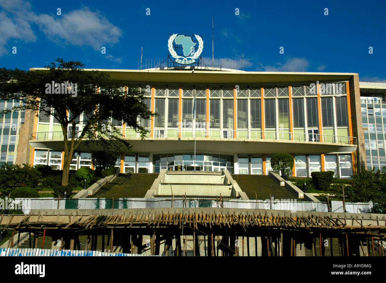 Africa hall seat of OAU Addis Abeba Ethiopia Stock Photo
