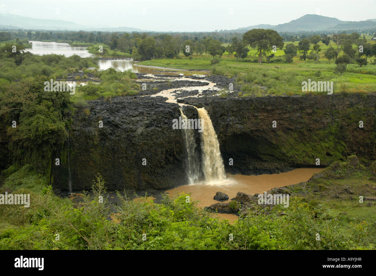 Blue Nile waterfall near Bahir Dar Ethiopia - Stock Image