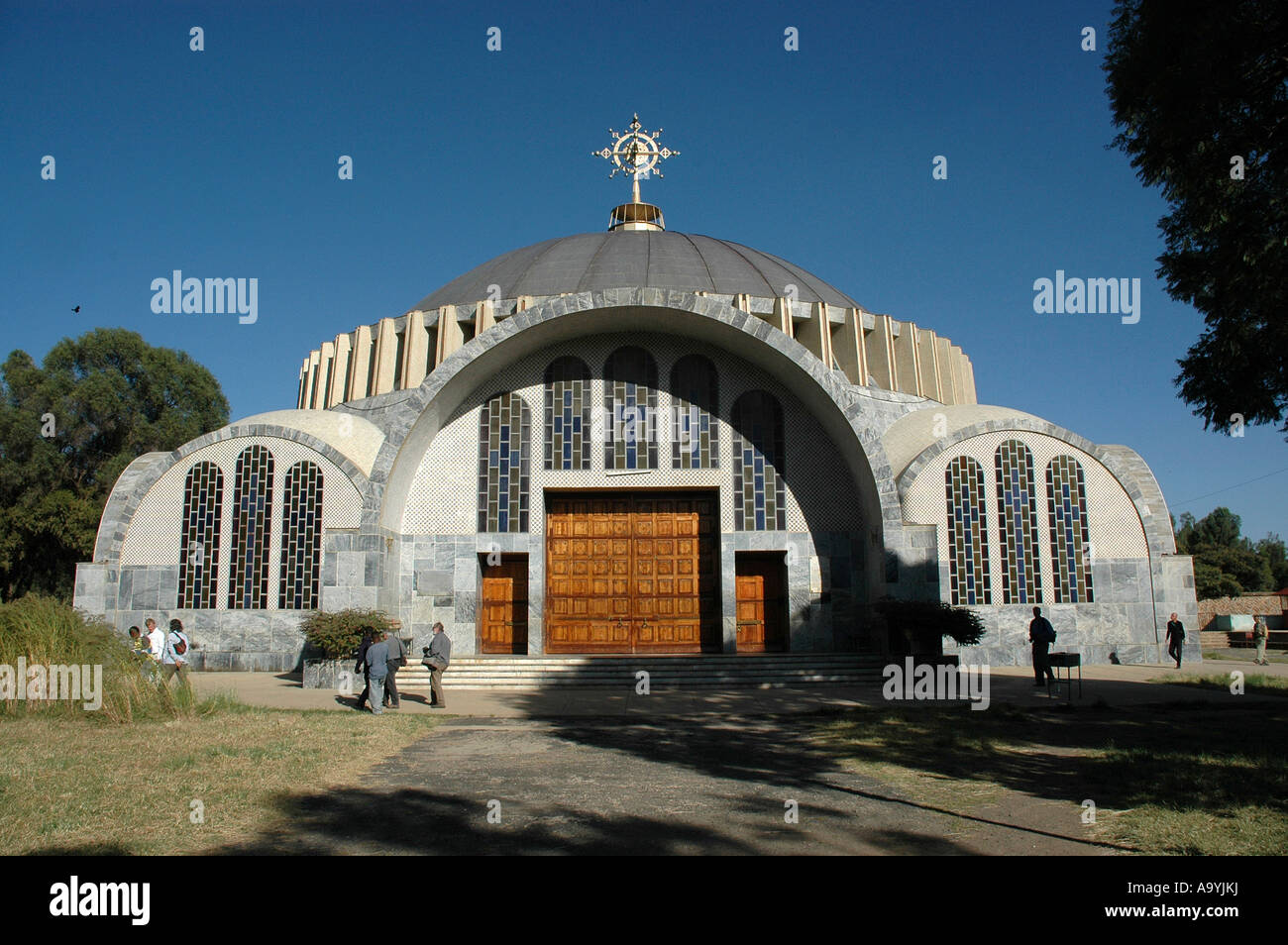 Dome shaped church New Cathedral Aksum Ethiopia - Stock Image