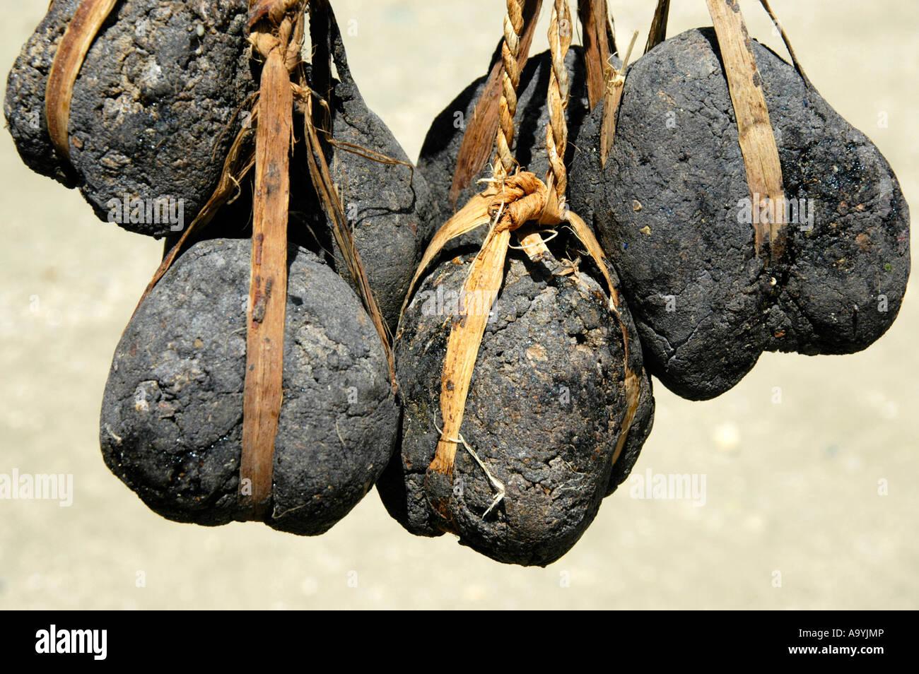 Pitchballs of incense Konso Ethiopia Stock Photo