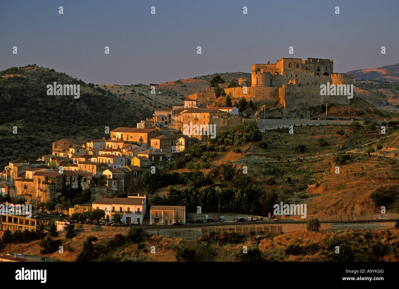 Castle, Rocca Imperiale, Calabria, Italy Stock Photo