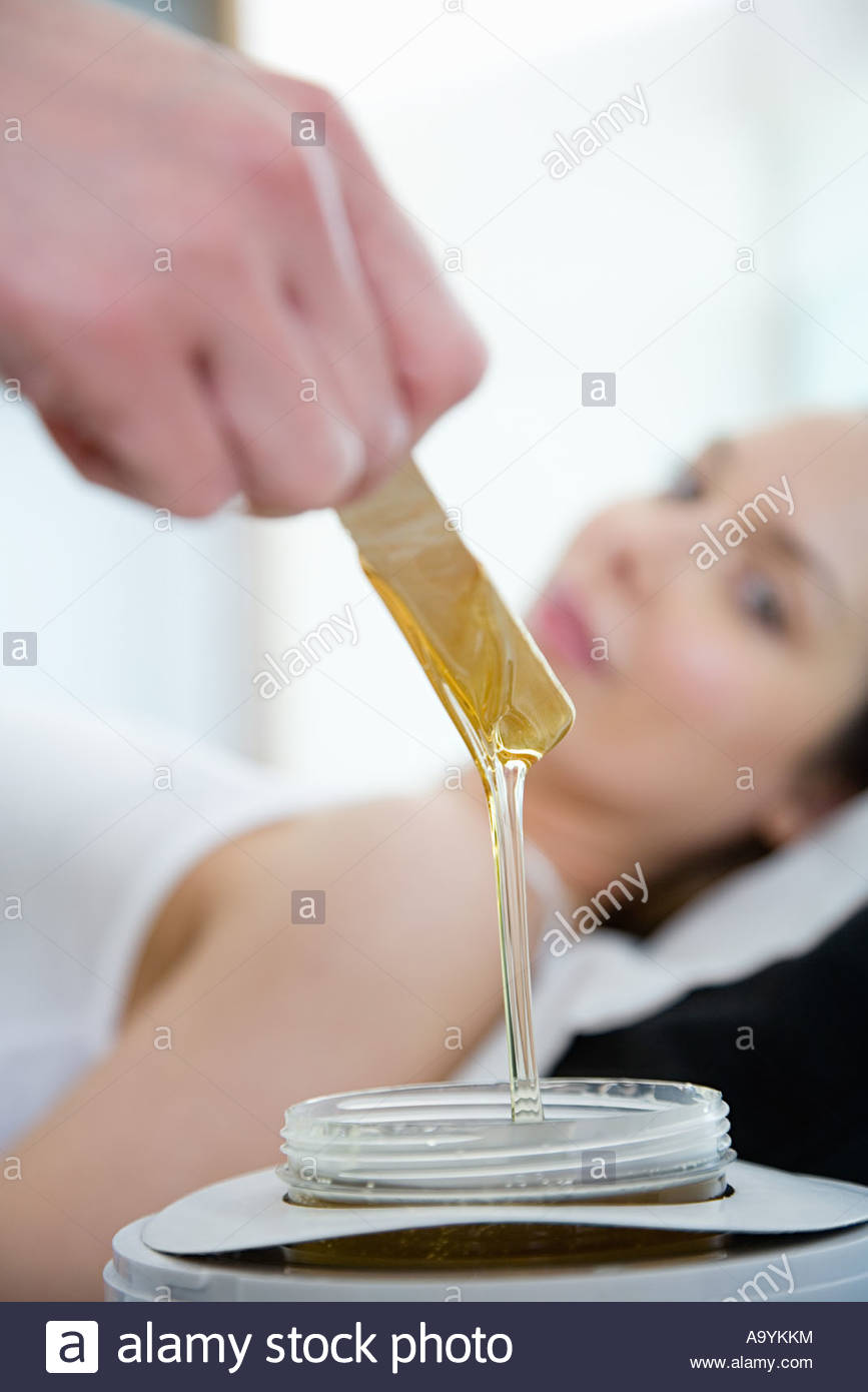 Hot wax treatment - Stock Image