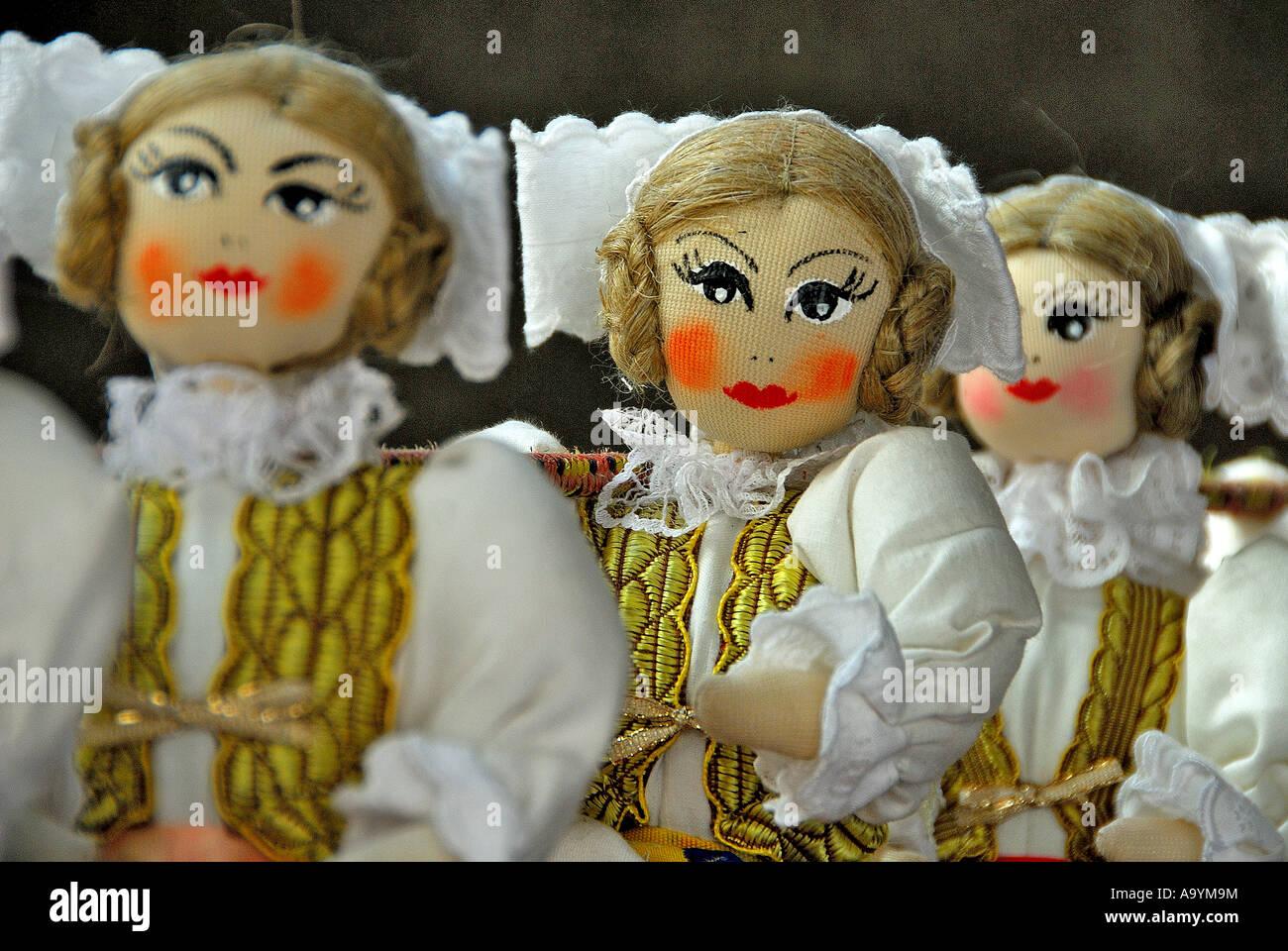 Bohemian dolls, Prague, Czech Republic - Stock Image