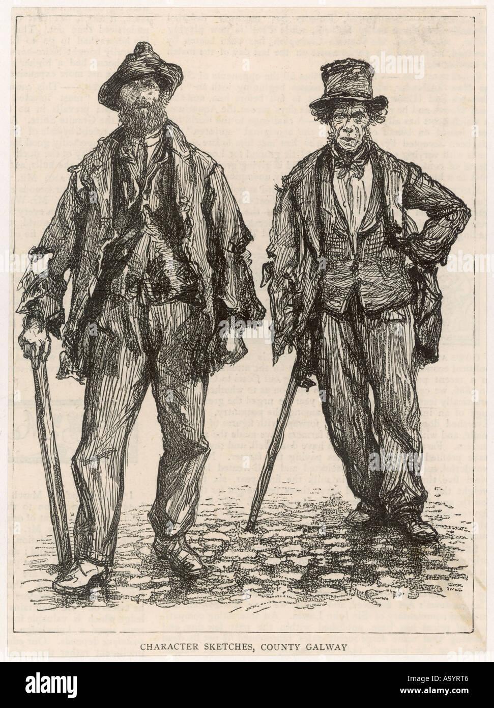 Two Irish Itinerants - Stock Image
