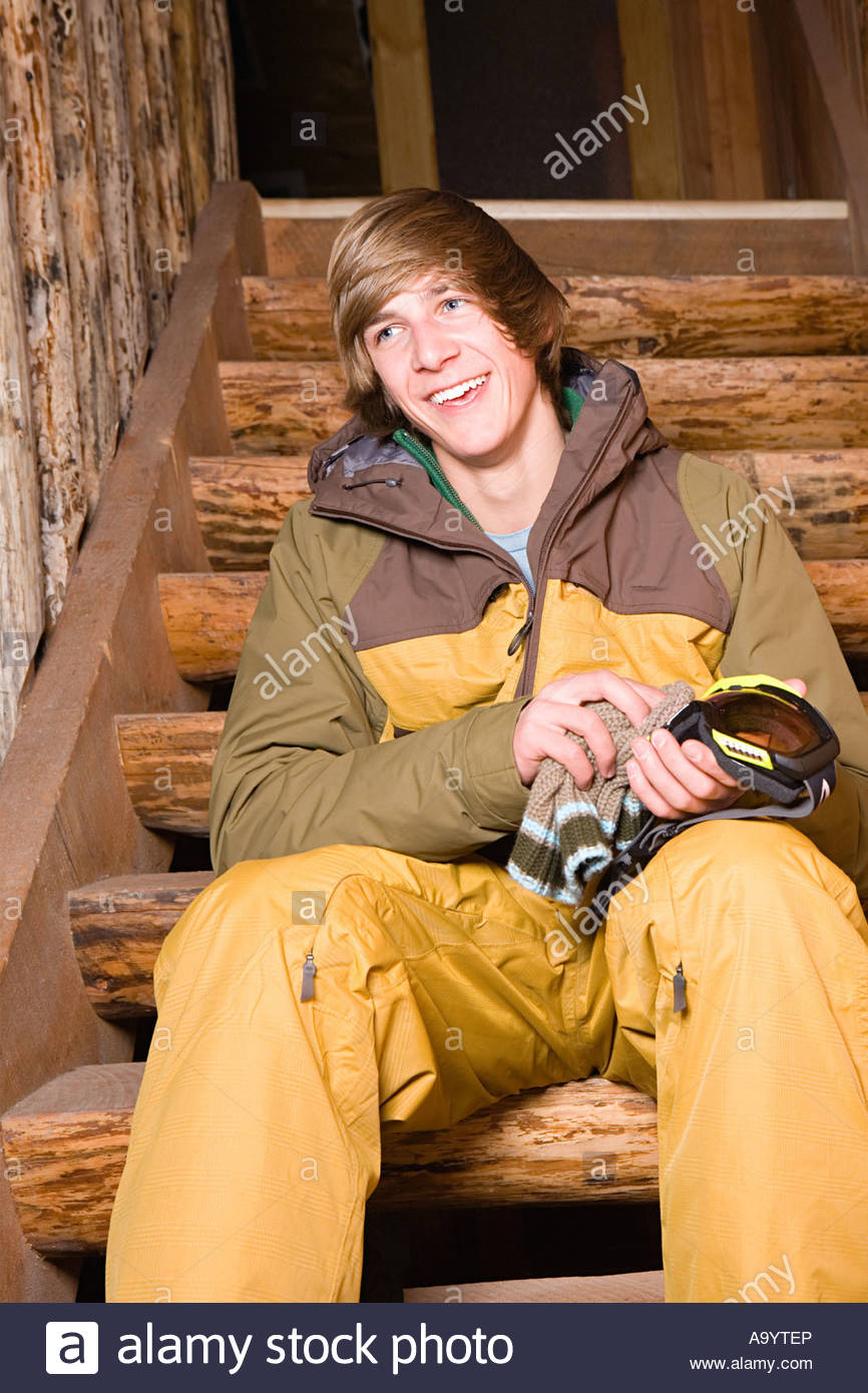 Young man in skiwear - Stock Image