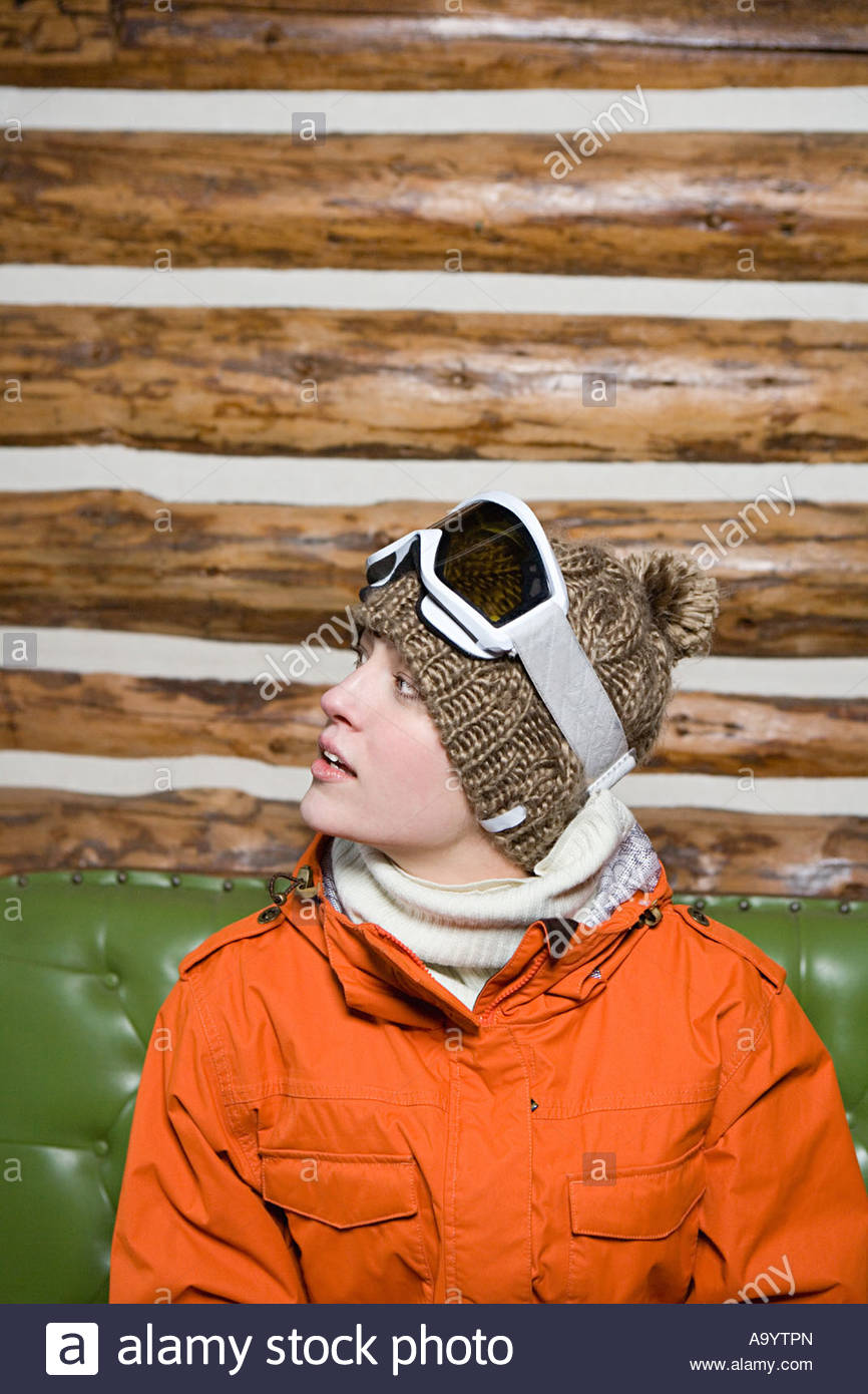 Young woman in skiwear - Stock Image