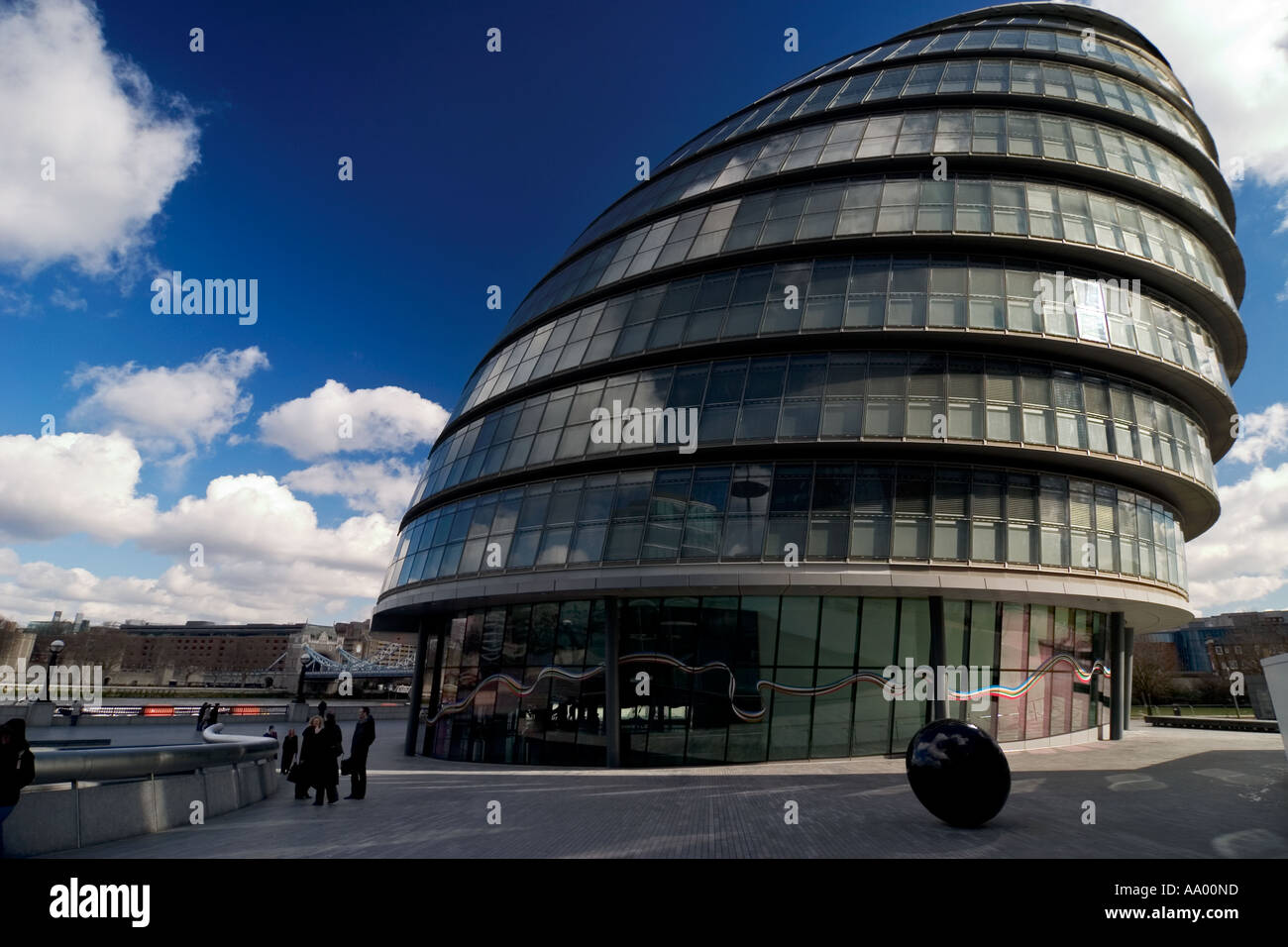 Greater London Authority Building or London New City Hall by Tower Bridge England UK - Stock Image