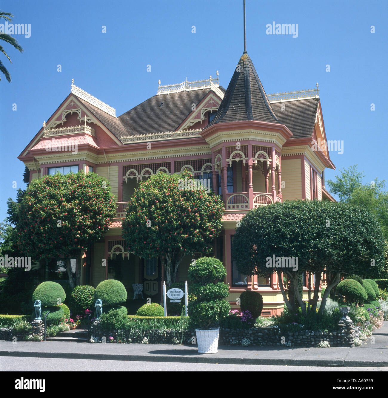 Victorian style house in Ferndale California USA - Stock Image