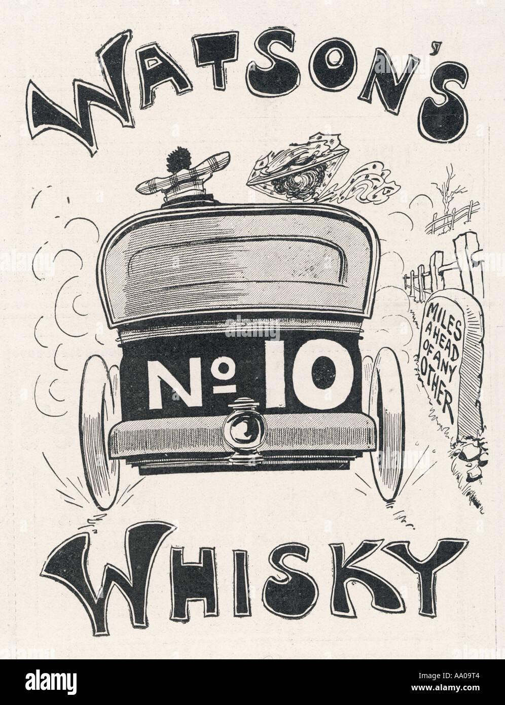 Watsons Whisky 1905 - Stock Image