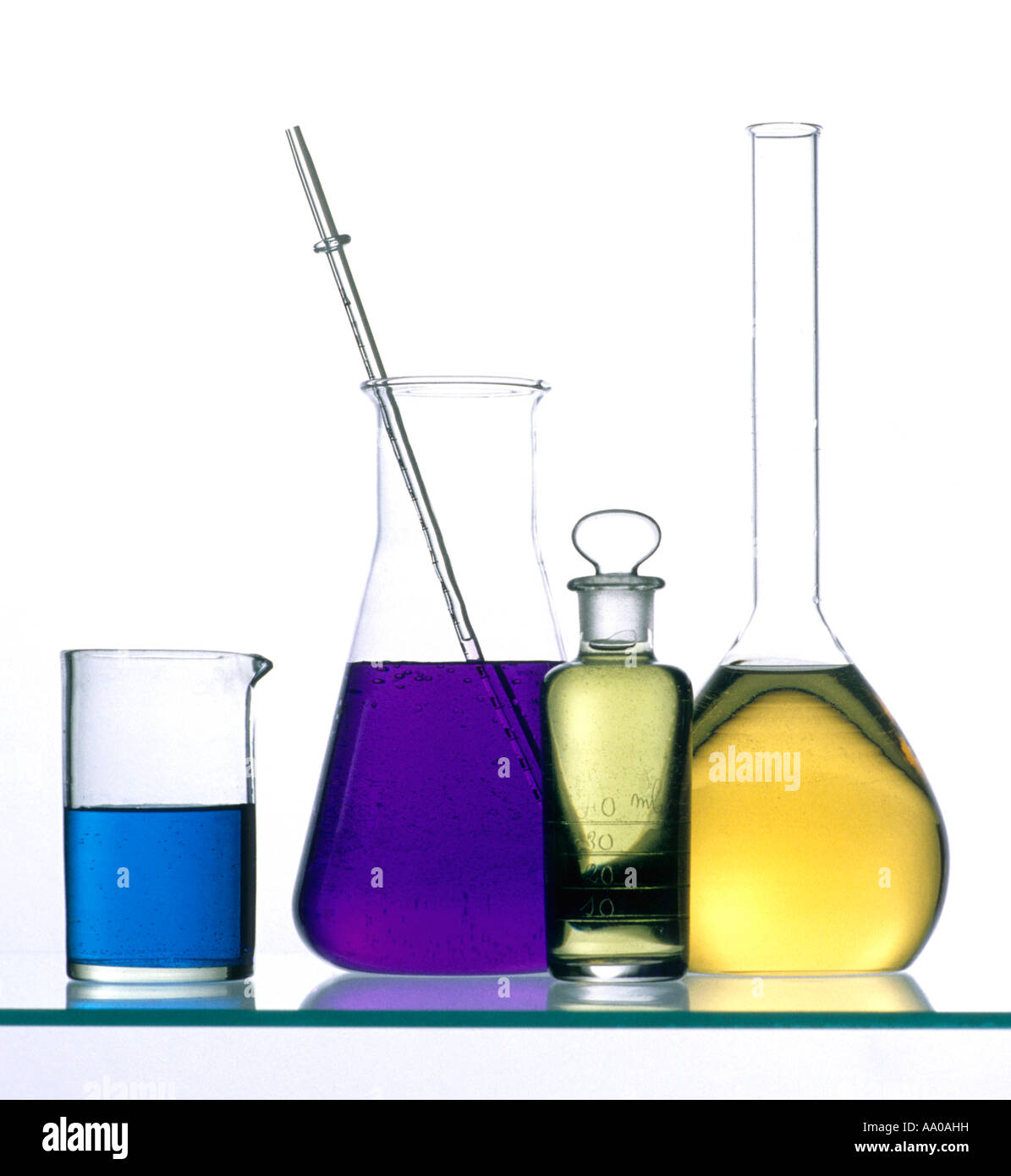 Laboratory - Chemistry Science lab equipment - Stock Image