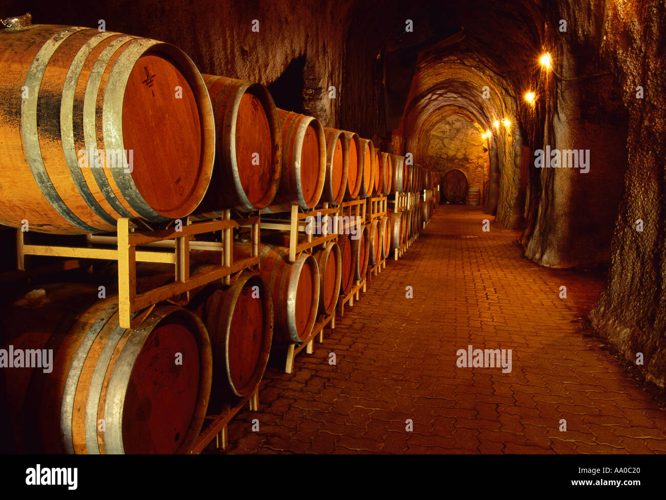 Agriculture - Wine caves at S. Anderson Winery / Napa Valley, California, USA. - Stock Image