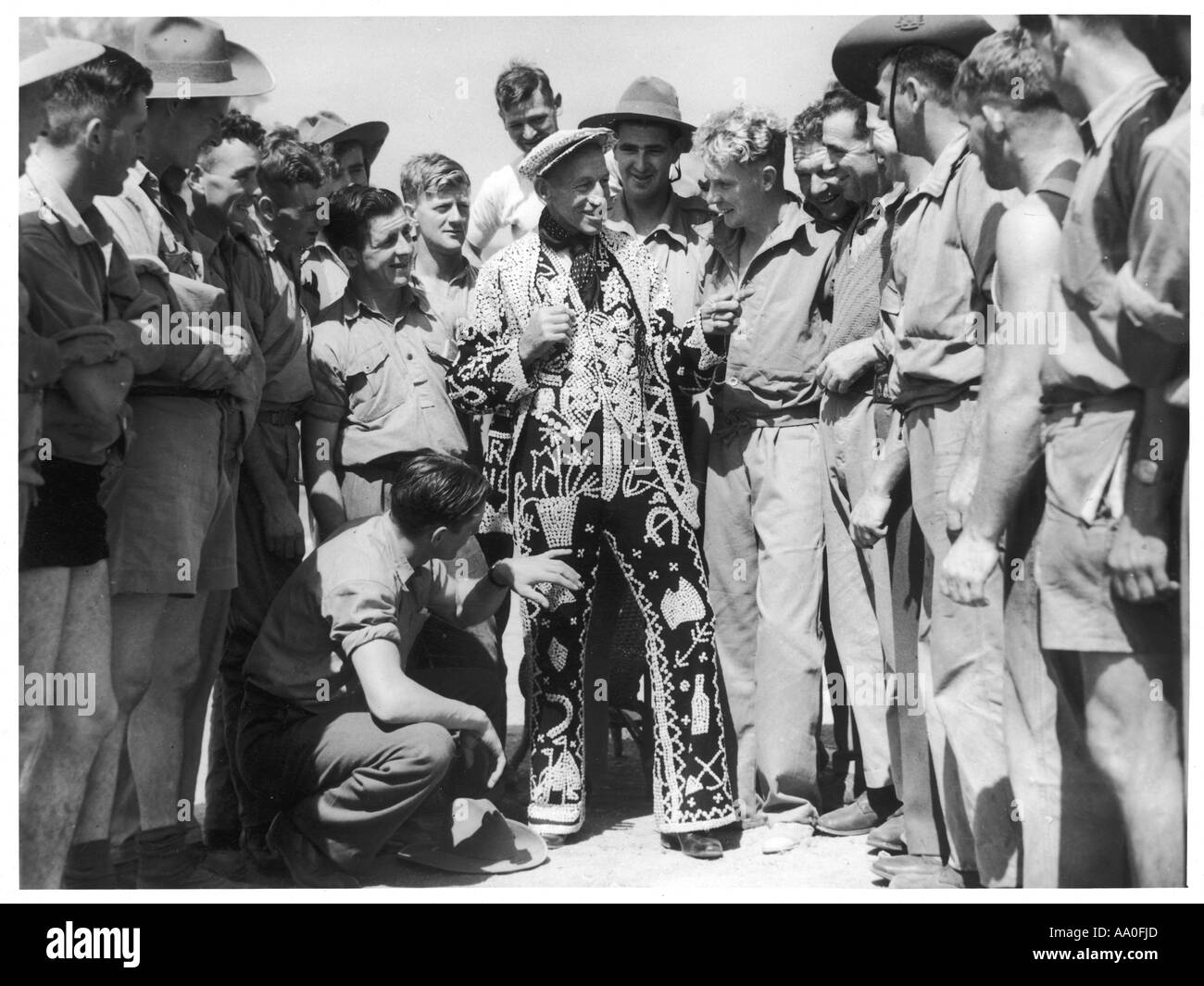 Pearly King In Australia - Stock Image