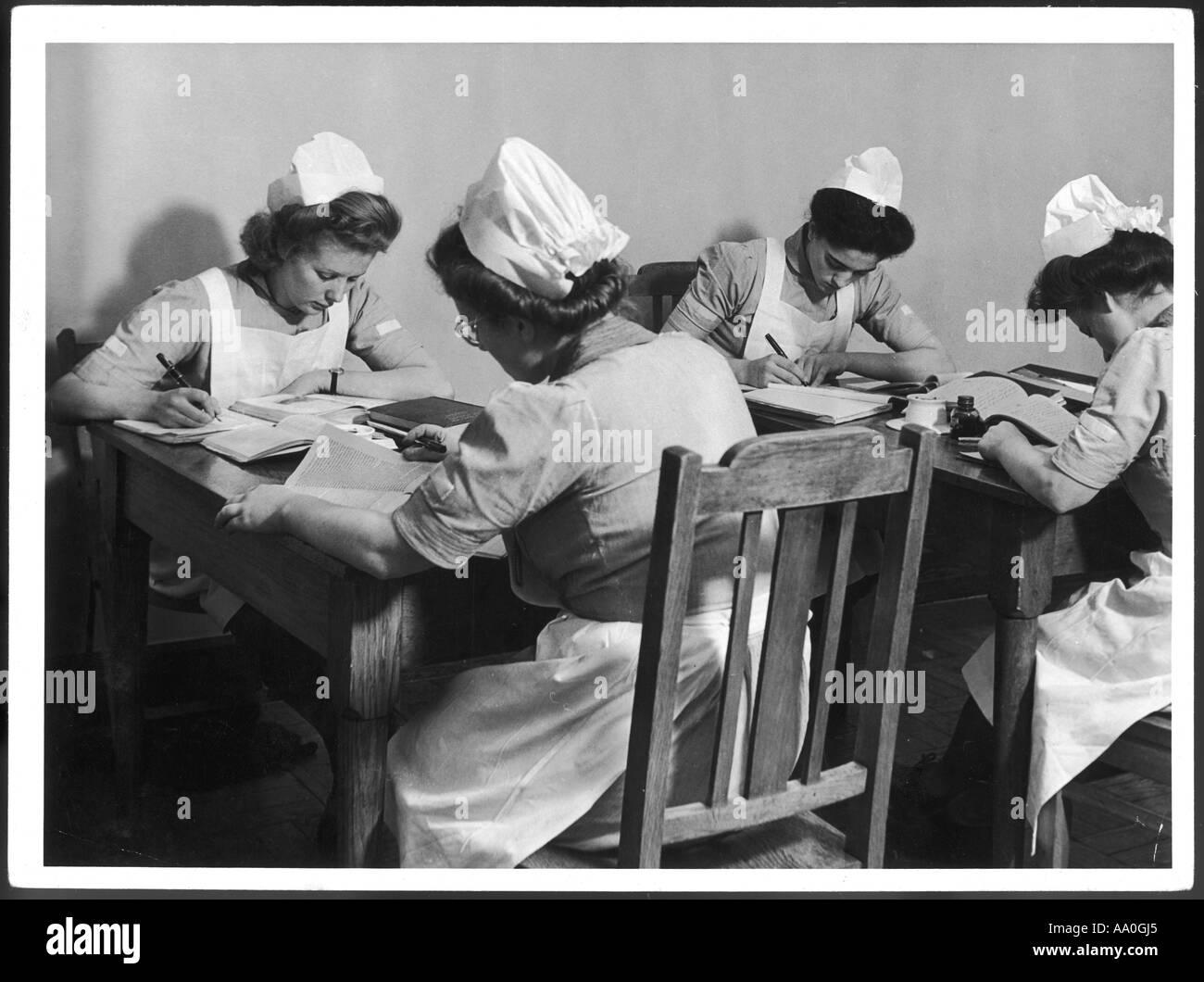 Student Nurses 1940s - Stock Image