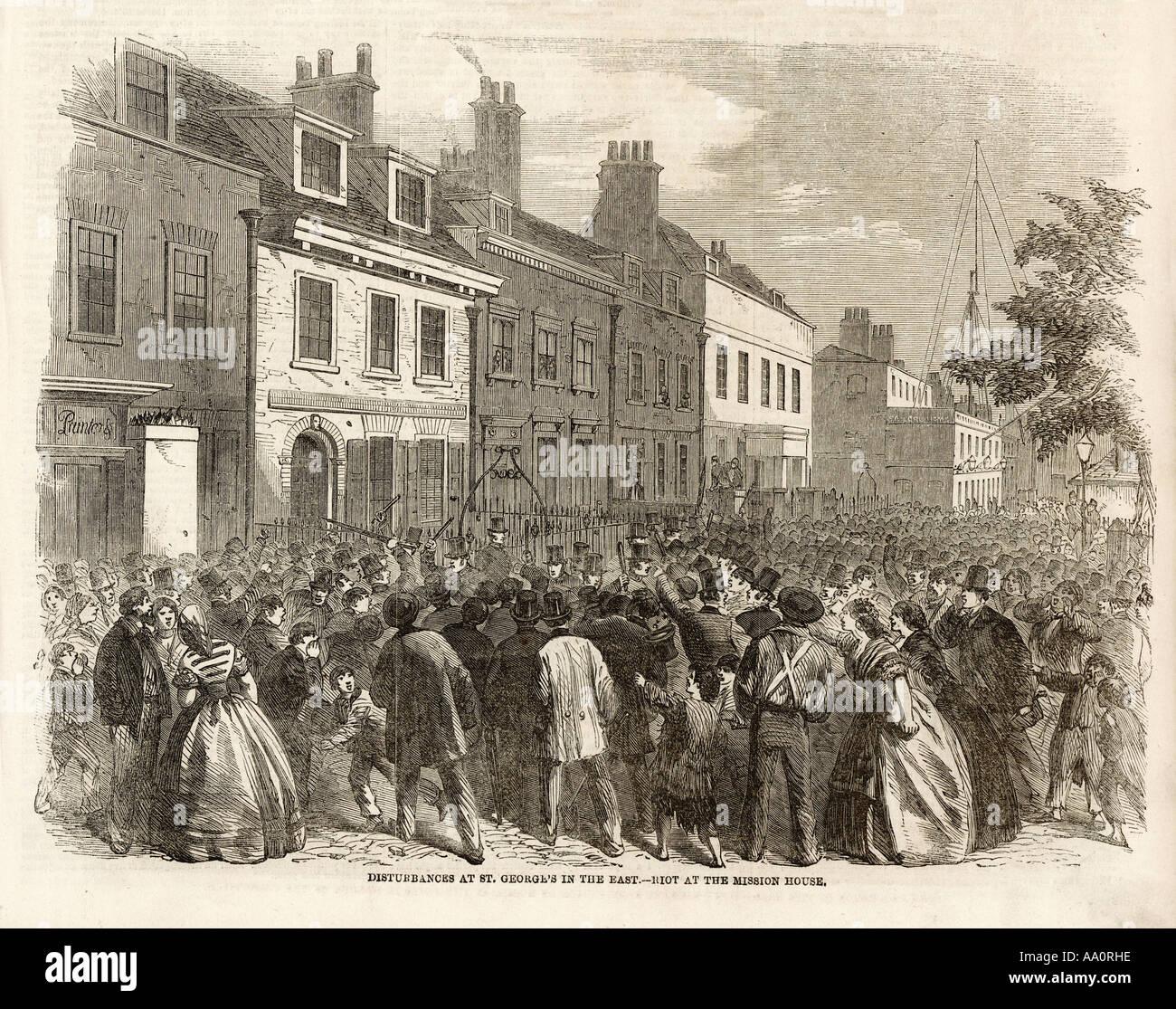 Riot At Church Closure - Stock Image