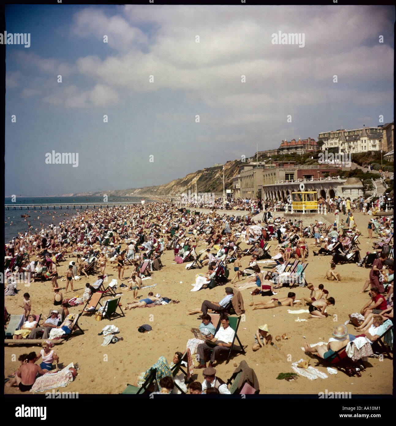 Bournemouth Beach 1960s - Stock Image