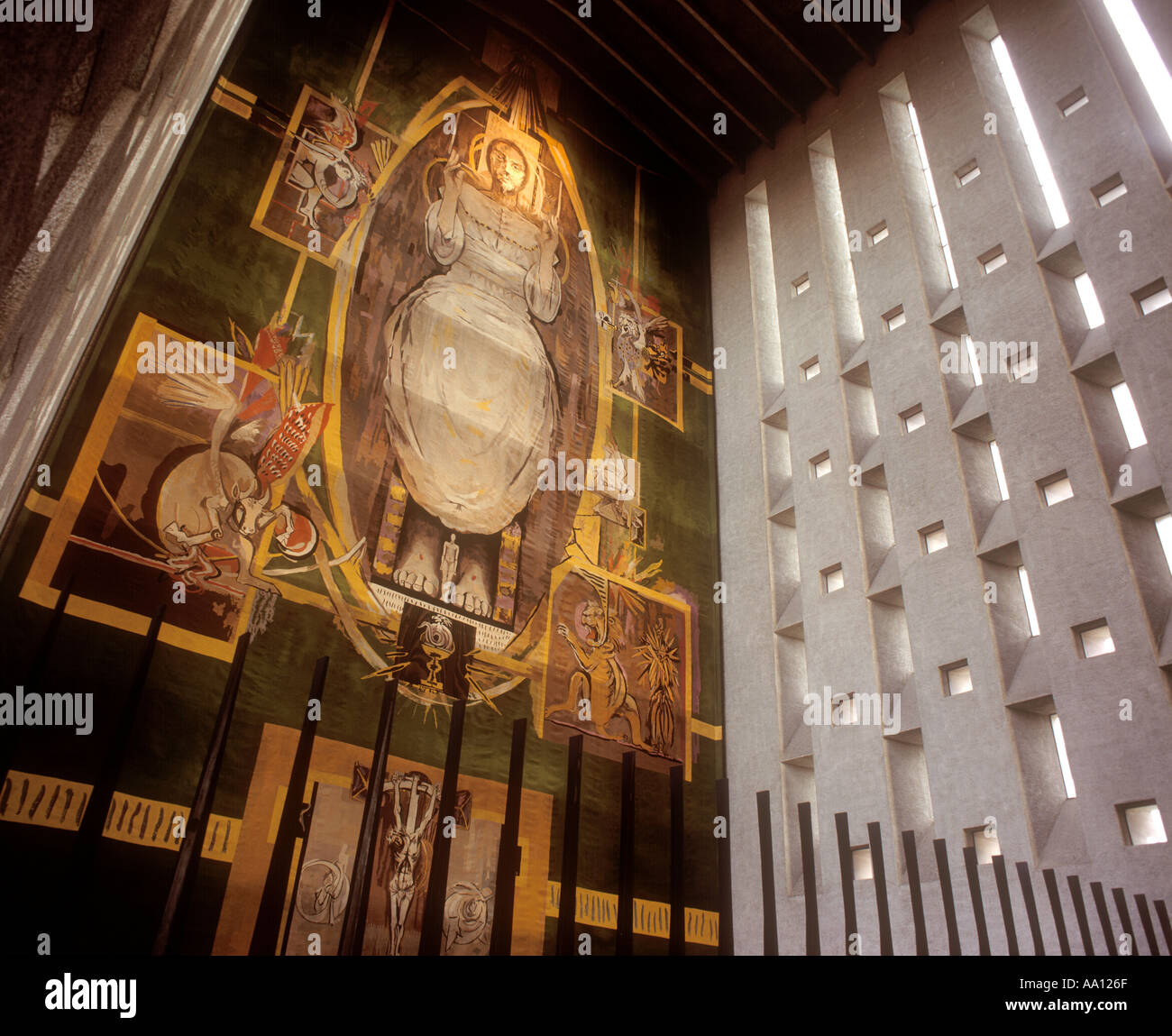 Interior of Coventry Cathedral Coventry England UK - Stock Image