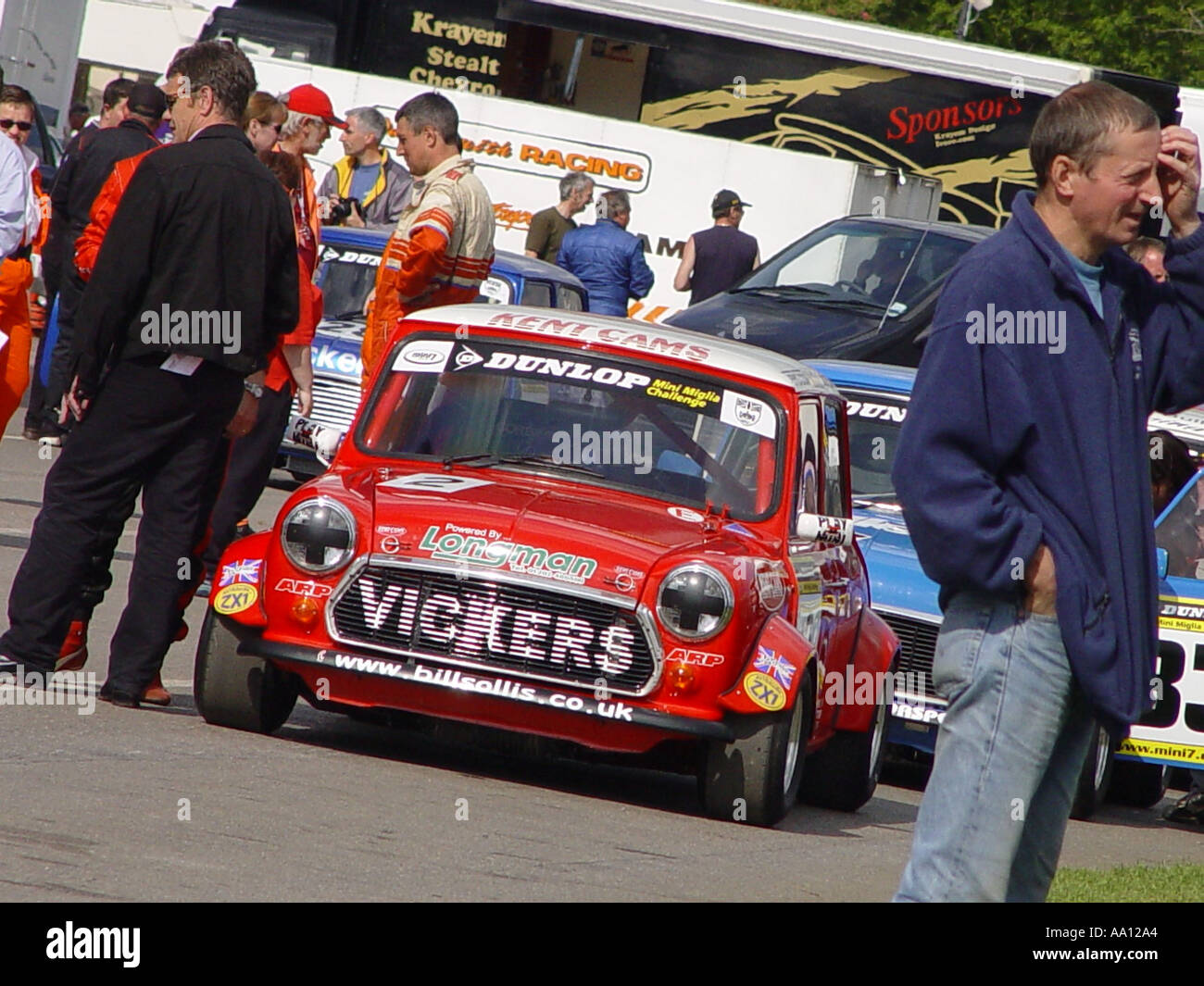 Motor racing cars England GB UK 2003 - Stock Image