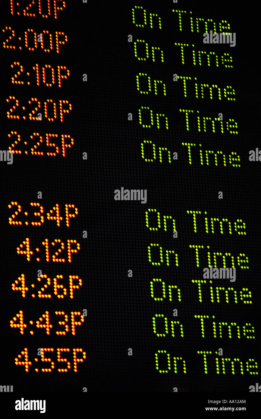 Arrival departure board - Stock Image