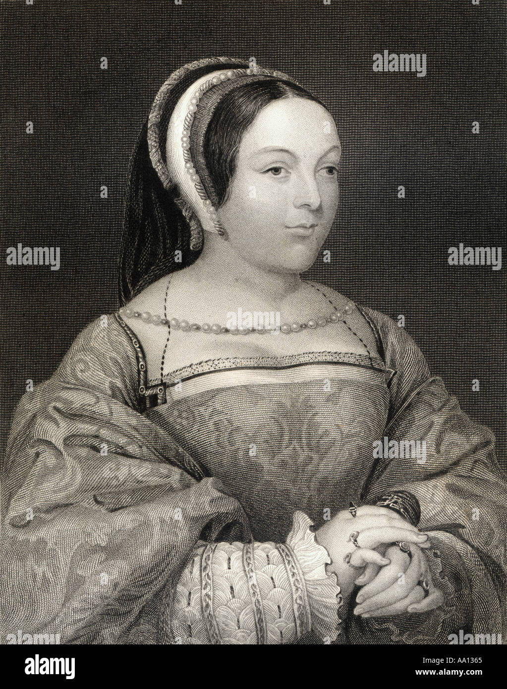 Margaret Tudor, 1489 - 1541.  Queen of Scotland as the wife of James IV and mother of James V of Scotland. - Stock Image