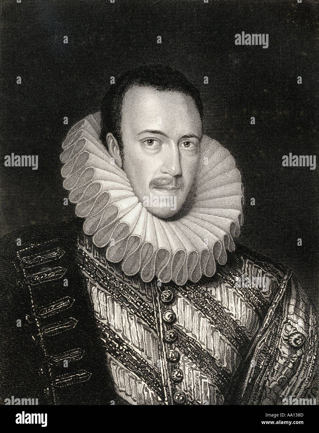 Philip Howard, 20th Earl of Arundel, Earl of Surrey, 1557-1595. English nobleman canonised  as one of the Forty Martyrs of England and Wales. - Stock Image