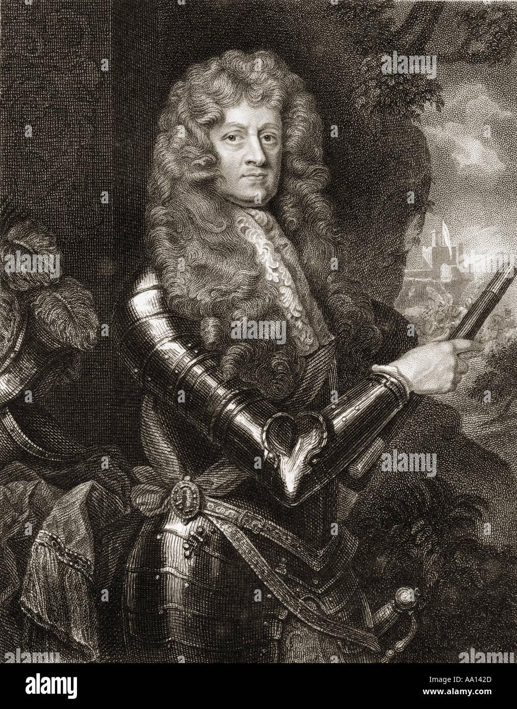 Lieutenant-General James FitzThomas Butler, 1st Duke of Ormond, 1st Marquess of Ormond, 1610 - 1688.  Irish statesman and soldier - Stock Image