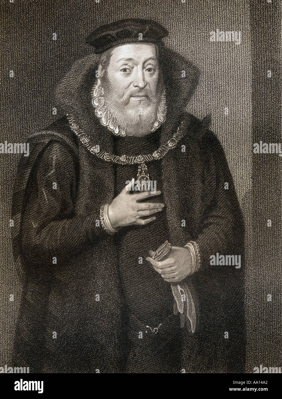James Hamilton, Duke of Châtellerault and 2nd Earl of Arran, c. 1516 – 1575.  Regent for Mary, Queen of Scots. - Stock Image