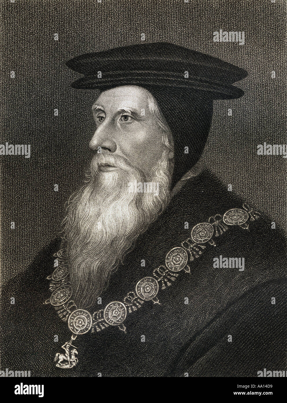 John Russell, 1st Earl of Bedford, 1485 - 1555. Founder of the wealth and greatness of the house of Russell. - Stock Image