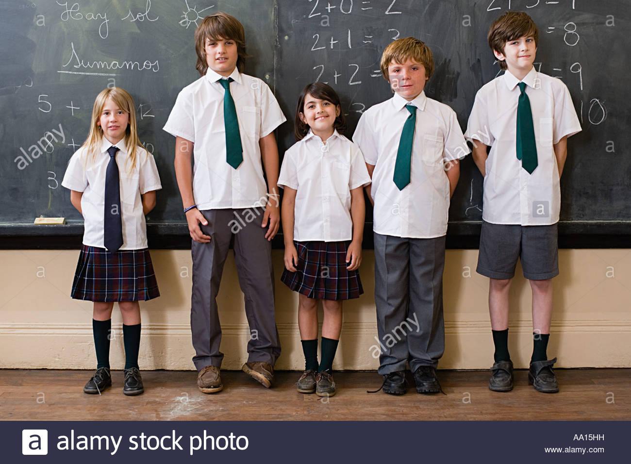 School children in classroom - Stock Image
