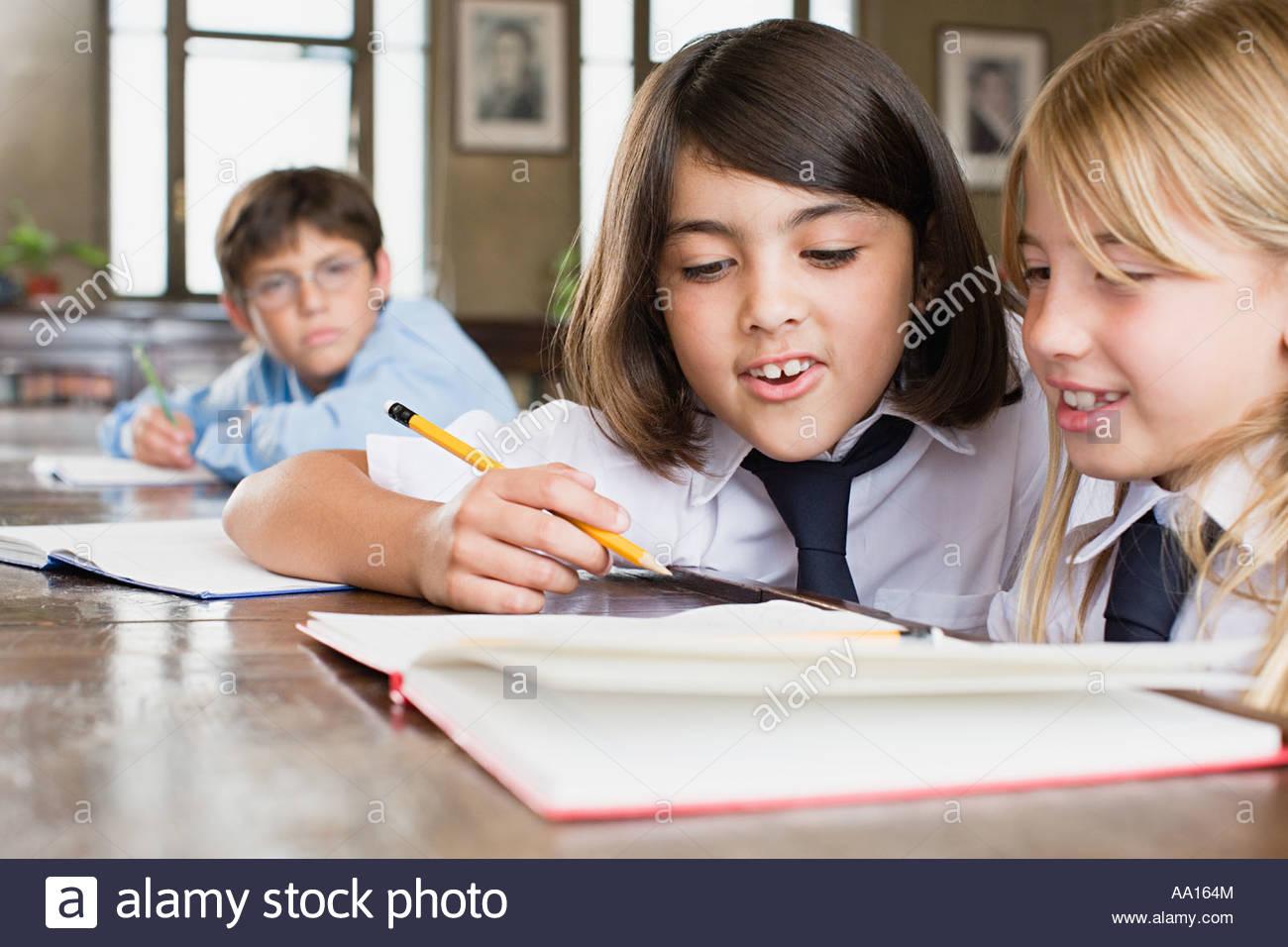 Children in school - Stock Image