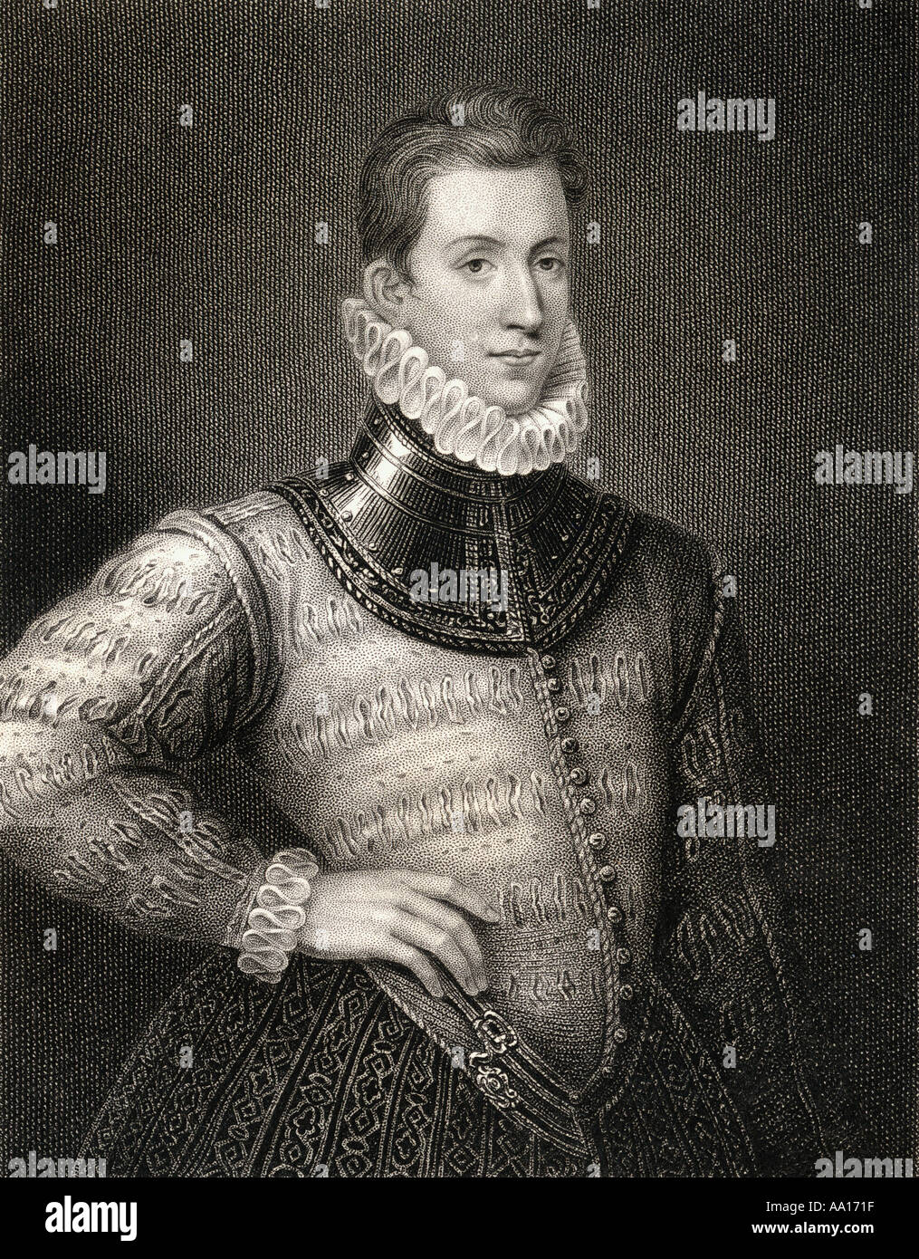 Sir Philip Sidney, 1554 - 1586. English poet, courtier, scholar and soldier - Stock Image