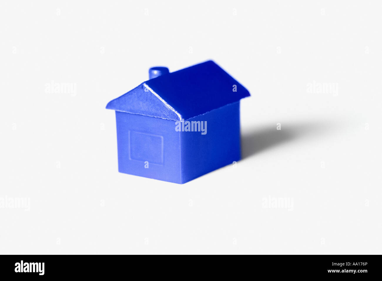 Blue model house - Stock Image