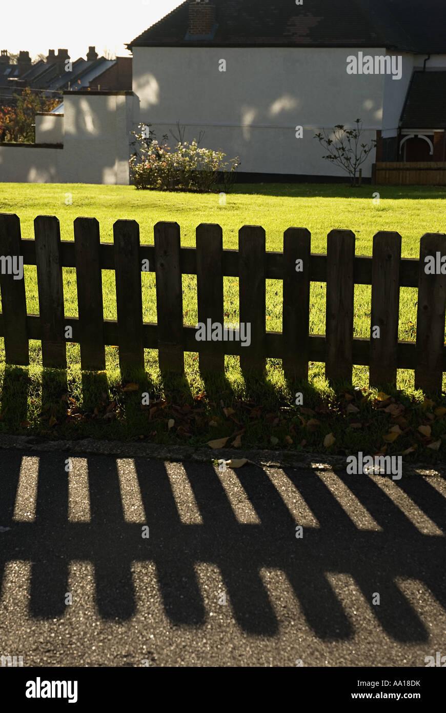 Garden fence - Stock Image