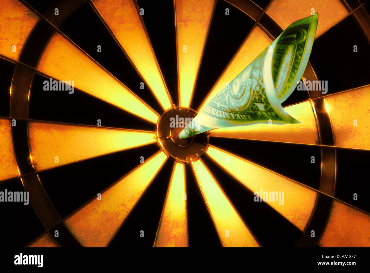 Us one dollar bill shaped as a dart hitting bullseye of target stock us one dollar bill shaped as a dart hitting bullseye of target thecheapjerseys Images
