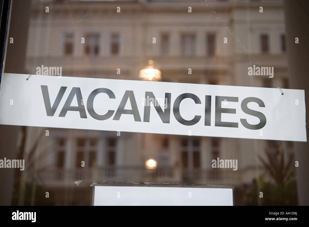 Vacancy sign - Stock Image