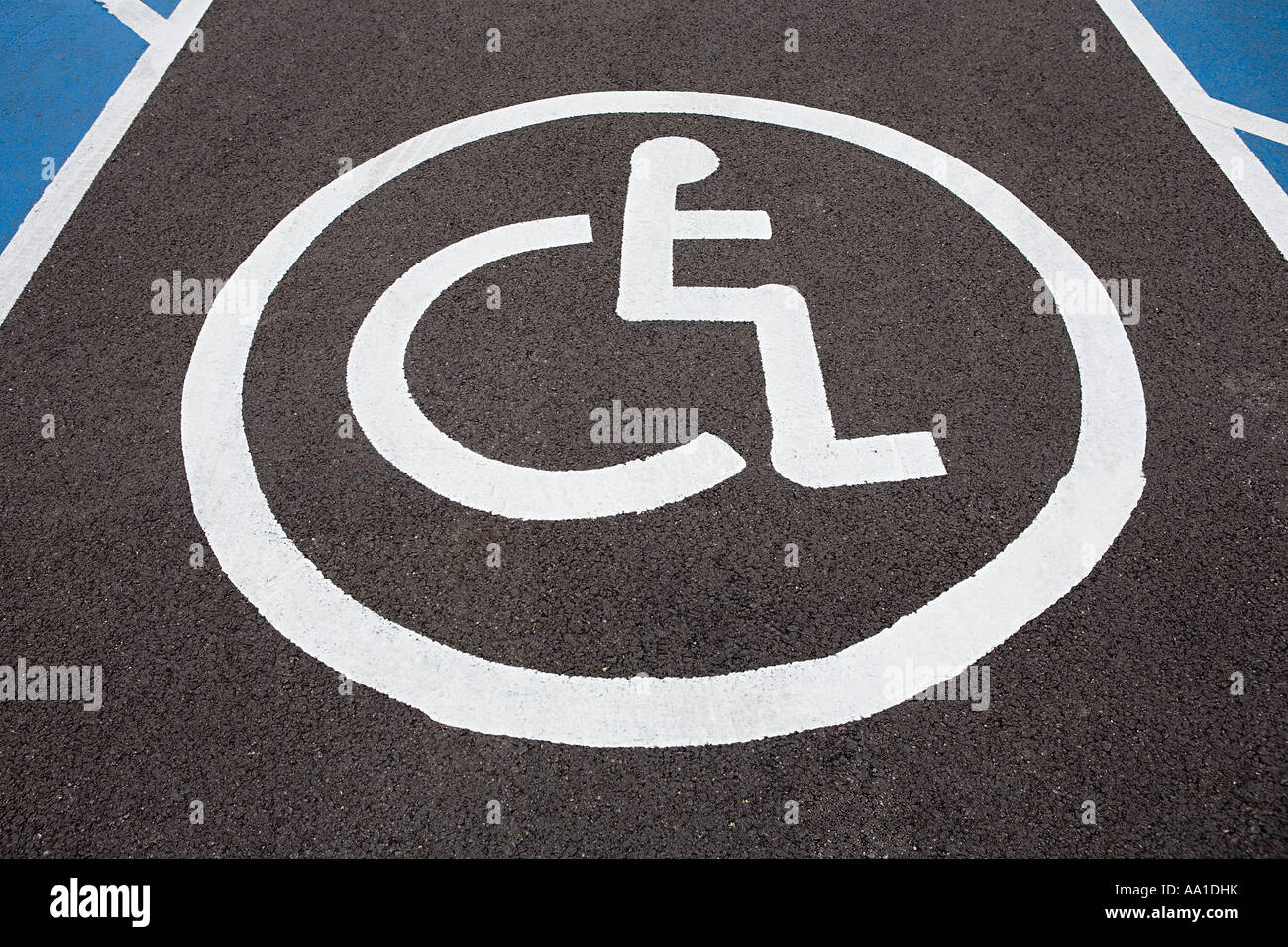 Disability parking space - Stock Image
