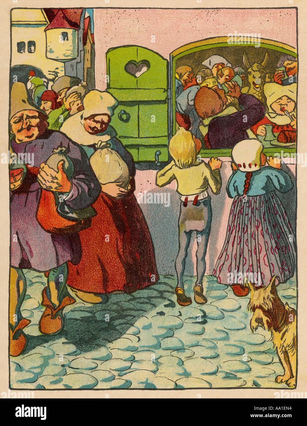 Fairytale Tischlein - Stock Image