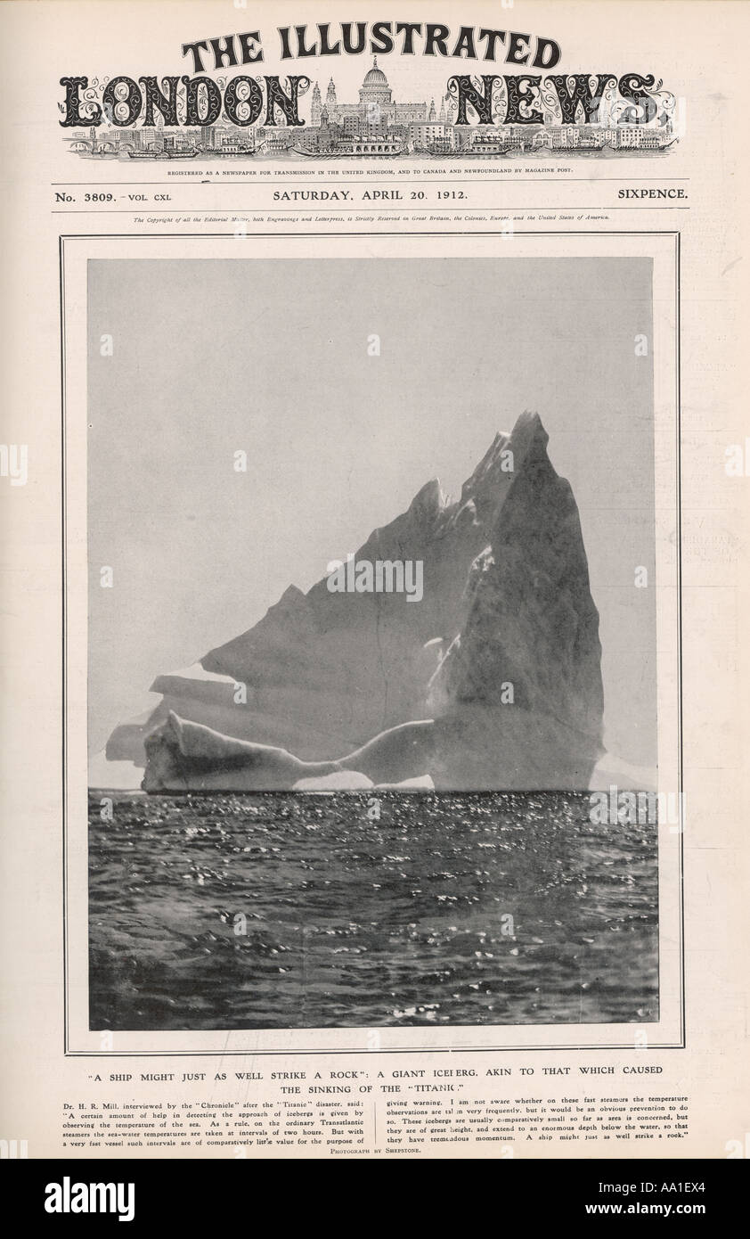 Iln Headline Iceberg - Stock Image