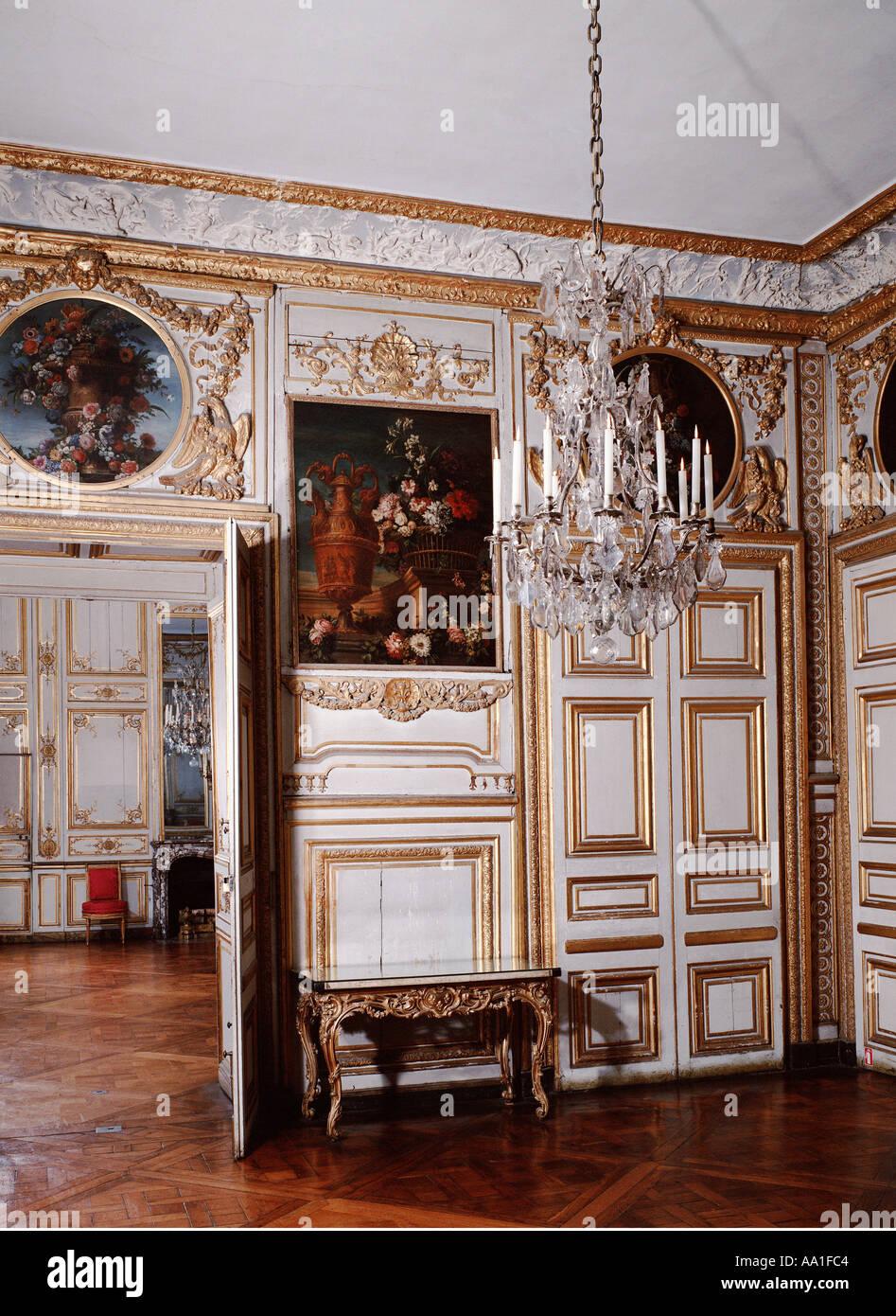 Palace Of Versailles Antichambre Des Chiens Salle à Manger Des Stock