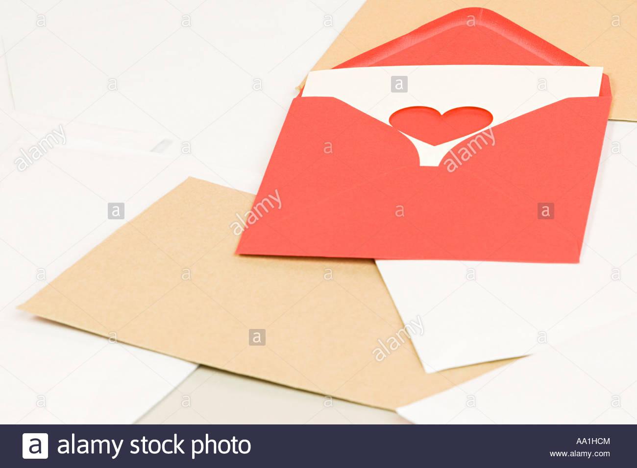 Valentines card - Stock Image