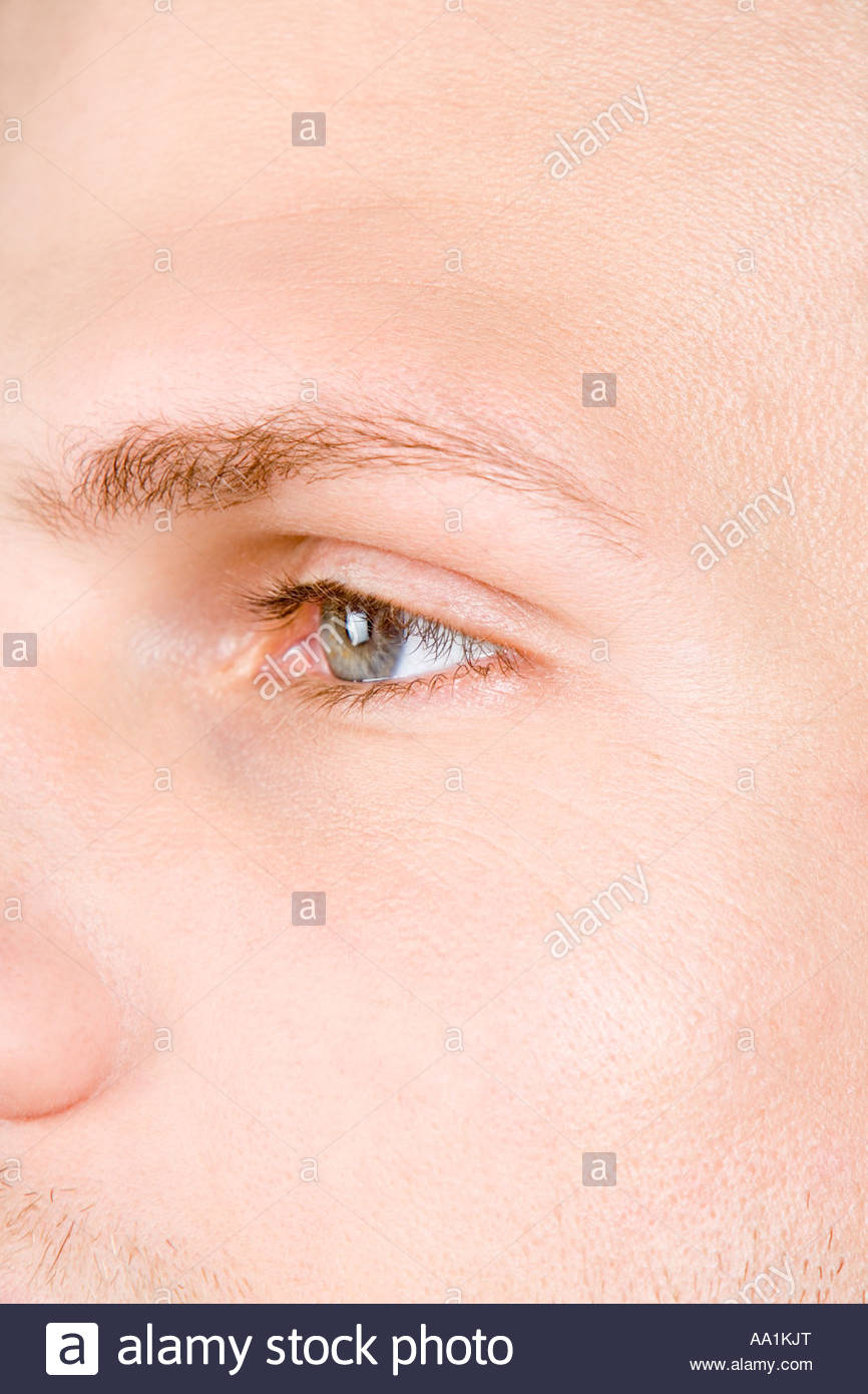 Close up of a male face - Stock Image